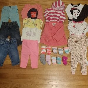 Baby girl 6-12 months clothing lot